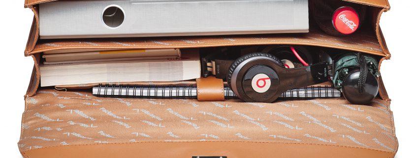 Leder Aktentasche 43 cm x 32 cm x 11 cm